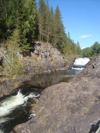 Водопад Кивач Карелия