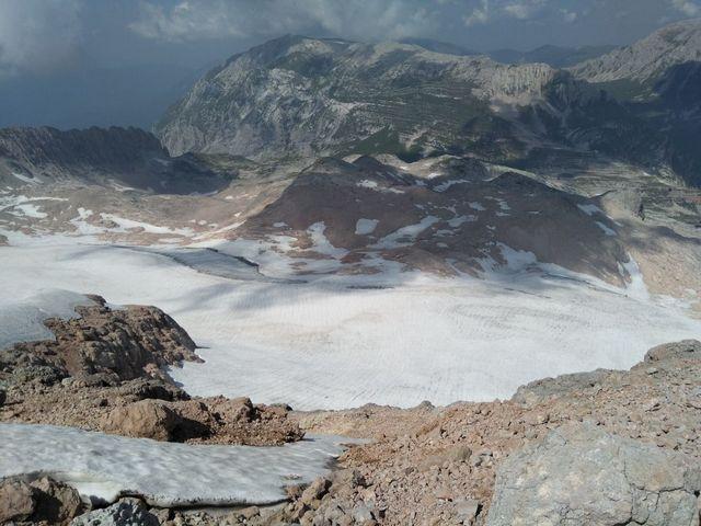 Ледник по дороге на вершину